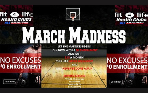 March Madness is Here at Fit4Life Health Clubs in North Carolina 1